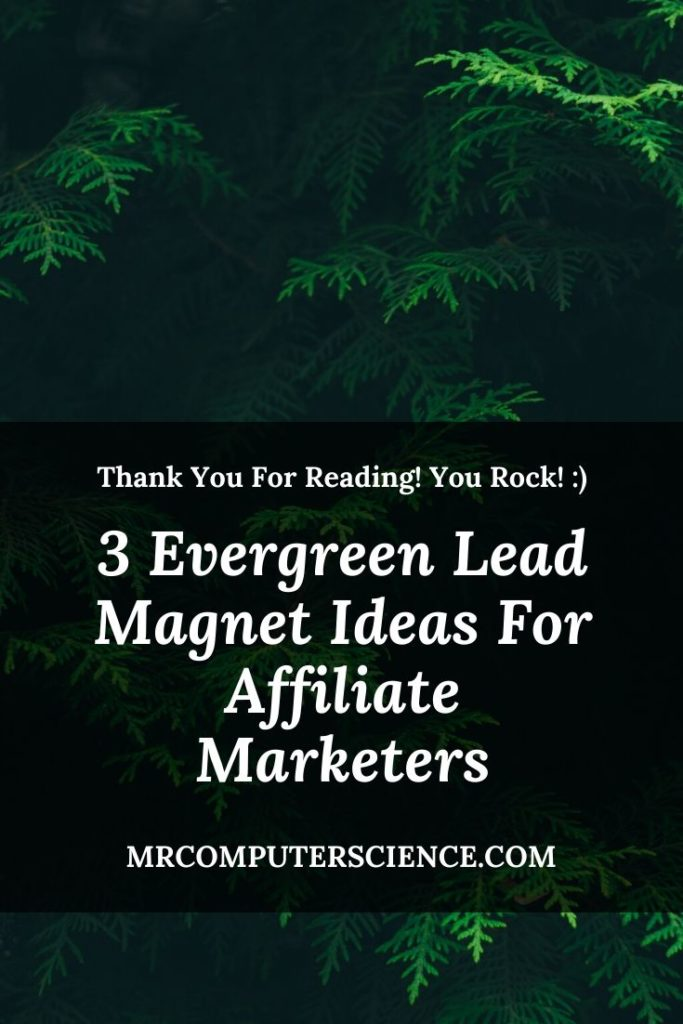 3 Evergreen Lead Magnet Ideas For Affiliate Marketers