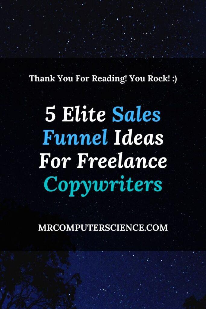 5 Elite Sales Funnel Ideas For Freelance Copywriters